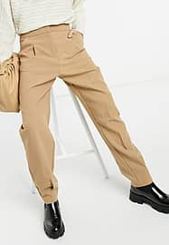 closet london tailored trousers in camel-Neutral