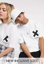 Collusion Unisex logo t-shirt in white