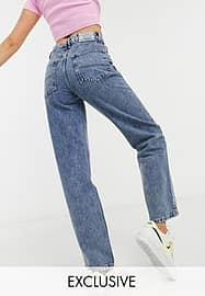 Collusion x014 90s baggy dad jeans in washed blue
