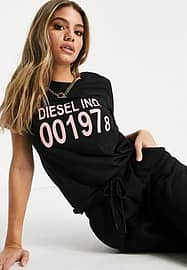 Diesel Sily logo t-shirt in black