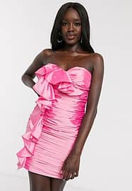 Dolly & Delicious extreme ruffle micro mini dress in pink
