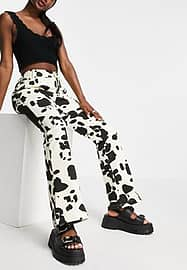 Emory Park 90's trousers in cow print-Brown