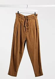 Free People Margate Pleated Trouser in Brown
