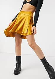 Free People Starstruck Mini Skirt in Orange