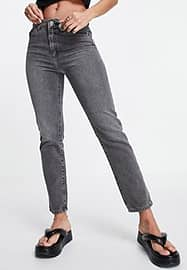 French Connection cut off jeans in grey wash