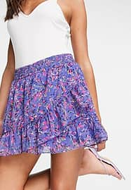 French Connection Flores mini skirt in blue