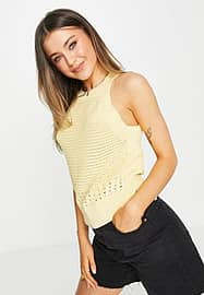 Morgan knitted top in yellow