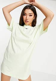 Nike essential t-shirt dress in lime green