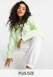 Nike Swoosh Plus woven jacket in neon yellow with utility pockets