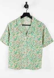 Only shirt with short sleeves in floral print-Multi
