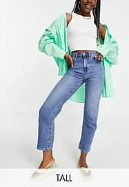 Only Tall Megan kick flare jeans with extra high waist in light blue