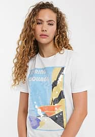 Soaked in Luxury slogan t-shirt with sequins-White
