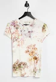Ted Baker ayleyc floral top in yellow
