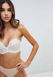 Wonderbra refined glamour ultimate strapless lace bra a - g cup-Neutral
