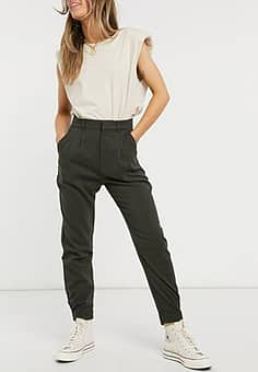 utility cargo trousers in black