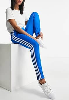 Adidas track pants in blue