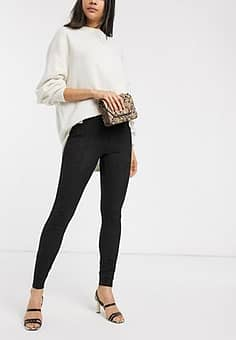 b. Young high waisted trousers-Black
