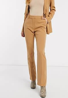 b. Young wide leg trousers-Brown
