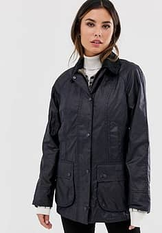 Barbour Beadnell wax jacket-Navy