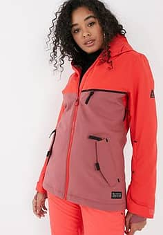 Eclipse ski jacket in neon pink