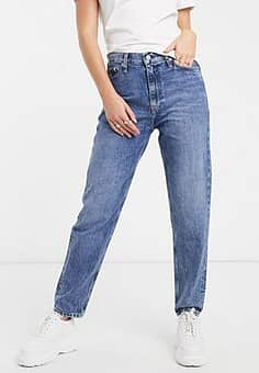archive high rise mom jean-Blue