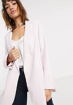 double vent boxy jacket-Pink