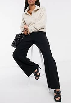 Closet high waist tailored trousers in black
