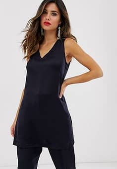 Closet longline tunic top co-ord in navy-Blue
