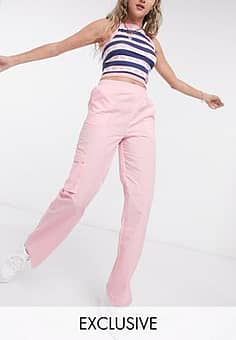 relaxed trouser in pale pink