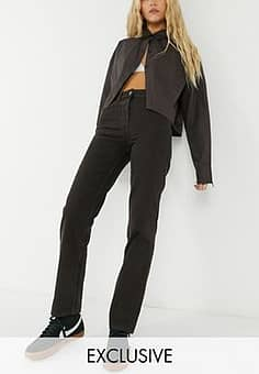x005 90s straight jeans in chocolate brown