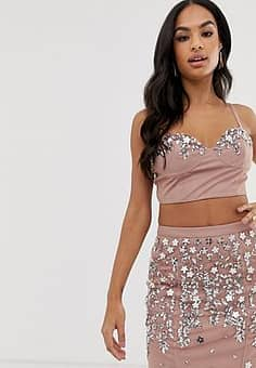 basque co-ord in champagne-Pink