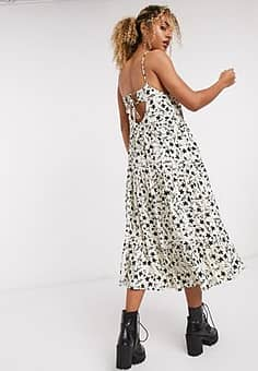 Emory Park cami maxi dress in tonal floral print-White