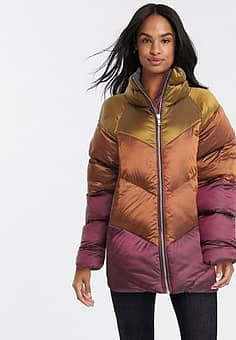ombre padded jacket in multi