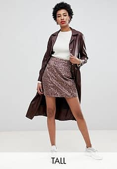 mini skirt in brushed pony leopard-Neutral