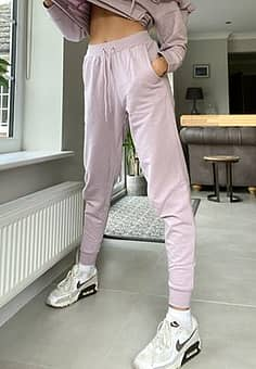 joggers co-ord in lilac-Purple