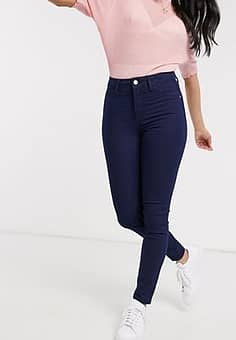 Penny high waisted skinny jeans in dark blue