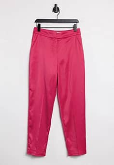 tailored trouser in pink co ord