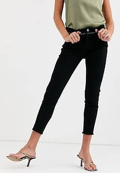 studded jeans in black