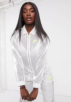 Air translucent jacket in white