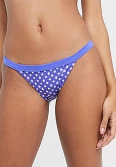 bikini bottoms in sapphire polka dot-Multi