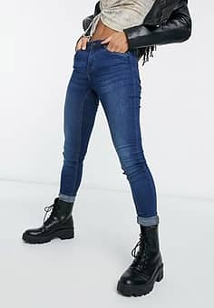 high waisted body shaping jean in blue