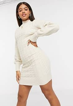 Urban Bliss cable knit dress in cream