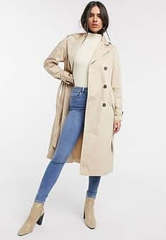 classic trench coat in beige-Neutral