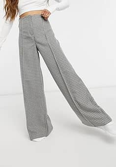 Petra co-ord dogtooth trousers in multi