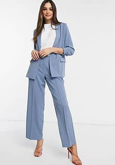 tailored trousers co ord in blue-Neutral