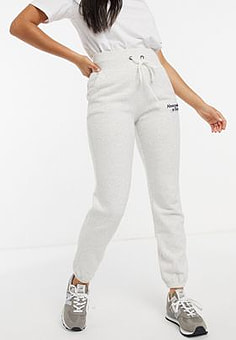 Abercrombie & Fitch logo jogger in grey