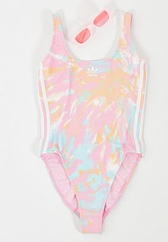 Adidas one piece swimsuit in multi print