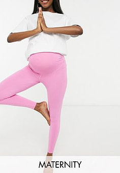ASOS Maternity icon legging in cotton touch-Pink