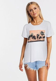 Blend She palm motif t-shirt in white