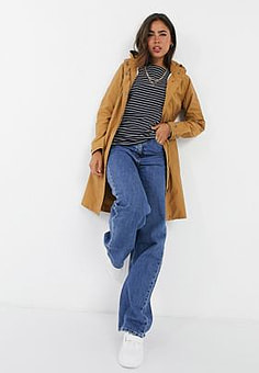 b.Young hooded coat in tan